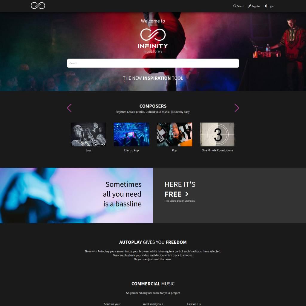 home infinitymusiclibrary.com
